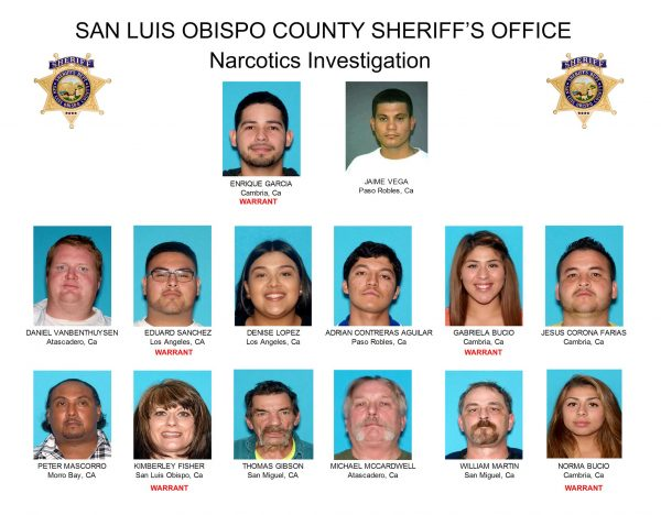 SLO County Sheriff announces breakup of drug ring - Cal