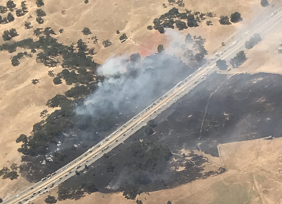 Fire along Highway 101 south of Atascadero prompts evacuations