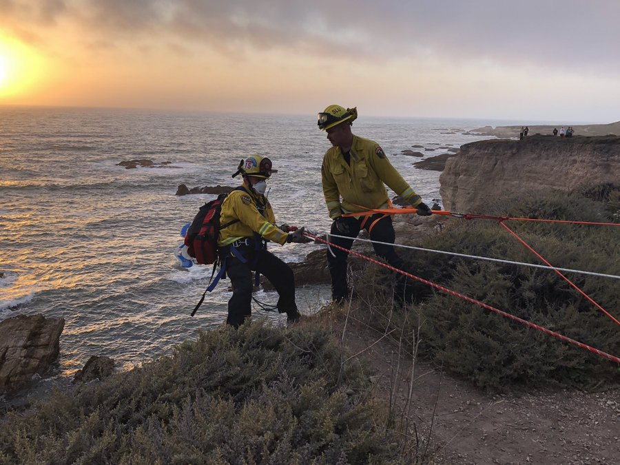 Helicopter rescues woman who fell off Montana de Oro cliff