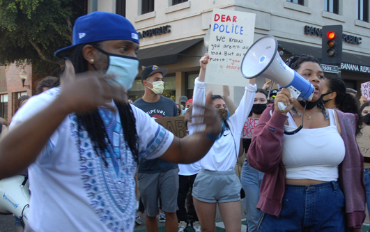 Protesters march in SLO in memory of Breonna Taylor