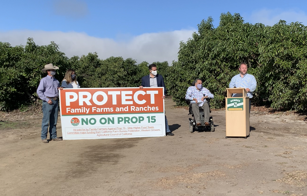 Prop 15 hurts small businesses, family farms, ranches